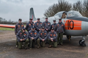 Most of the crew, XS186 is where she is today as a result of these guys, and a few absent friends