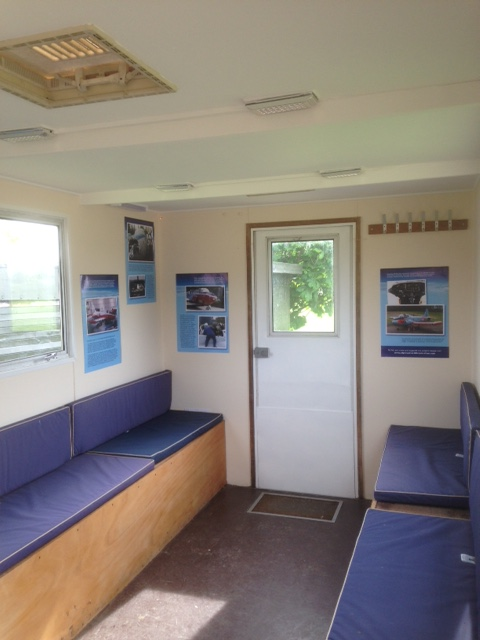 caravan with posters