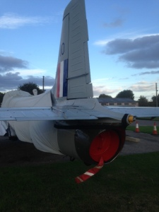 XS186 at dusk, with freshly painted exhaust blank re-fitted by Howie