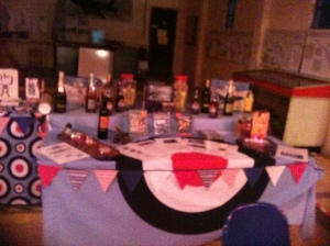 Some of the auction prizes on display. Bidding fever definitely grabbed some people on the night!