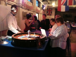 Plenty of 'funny money' changing hands at the Roulette table. Just as well it wasn't real money for some!