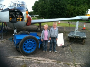Two budding crew members. These lads had a great time and picked up some history too.