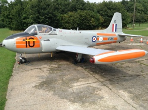 Summer 2013, almost there, XS186 with all fuselage and tip tank dayglo applied