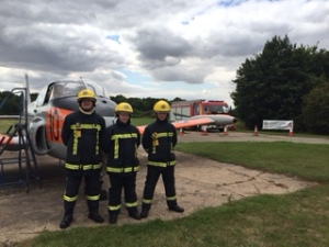 Our new partners, the Lincolnshire Fire Service Heritage Group, Anthony Middleton, Lauren Burland and Michael Evans- great support, thanks guys and girl!