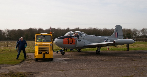 Towing XS186 into position for the ill fated engine run