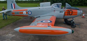 XS186 with upper main plane dayglo sections painted