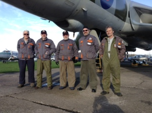 The crew just out of the Vulcan, the smiles won't fade for weeks