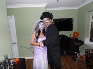 The 'undertaker and 'Bride of Frankenstein' - a match made in heaven!