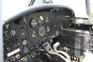 The cockpit of XN458 after several hours of back breaking work